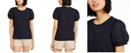 Tommy Hilfiger Tommy Hilfiger Puff-Sleeve Eyelet T-Shirt