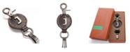 Mio Marino Retro Leather Alphabet Keychain