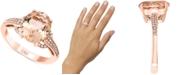 Macy's LALI Jewels Morganite (3-1/6 ct. t.w.) & Diamond (1/8 ct. t.w.) Ring in 14k Rose Gold
