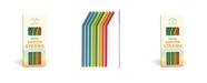 Knock Knock Rainbow Silicone Straw, Set of 8