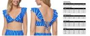 Raisins Juniors' Shore Thing Palisades Ruffled Bikini Top