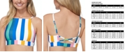Raisins Juniors' Beach Please Crossroads Striped High-Neck Bikini Top
