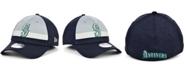 New Era Men's Seattle Mariners Striped Shadow Tech 39THIRTY Cap