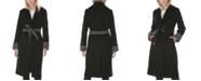 Tahari Plaid Belted Wrap Coat