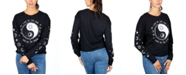 Rebellious One Juniors' Graphic-Print Long-Sleeve Cotton T-Shirt