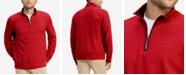 Tommy Hilfiger Men's TH Flex French Rib Quarter-Zip Knit Pullover