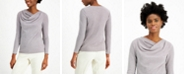 Alfani Asymmetrical Cowlneck Top, Created for Macy's