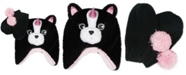 Love 2 Design Toddler Girls Pugicorn Trapper and Mittens Set, 2 Piece Set