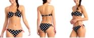 California Waves Polka-Dot Bikini Top & Hipster Bikini Bottoms, Created for Macy's