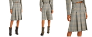 INC International Concepts INC Pleated Plaid Gaucho Pants, Created for Macy's