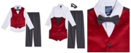 Nautica Baby Boy Red Velvet Vest Set