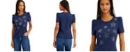 INC International Concepts INC Star-Print Puff-Sleeve T-Shirt, Created for Macy's