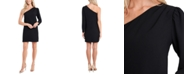 CeCe One-Shoulder Moss Crepe Dress