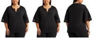 Lauren Ralph Lauren Plus Size Bell-Sleeve Top