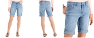 Style & Co Plus Size Denim Bermuda Shorts, Created for Macy's