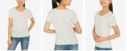 Hippie Rose Juniors' Lettuce-Edge Ribbed T-Shirt