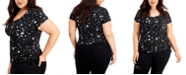 FULL CIRCLE TRENDS Trendy Plus Size Side Ruched T-Shirt