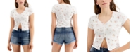 Self Esteem Juniors' Cotton Floral-Print Flyaway Top