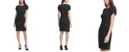 Karl Lagerfeld Paris Scuba Crepe Pleated-Side Sheath Dress