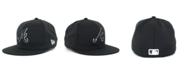 New Era Kids' Atlanta Braves MLB Black and White Fashion 59FIFTY Cap