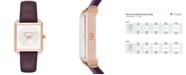 Michael Kors Women's Lake Plum Leather Strap Watch 32x39mm MK2585