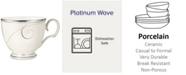 Noritake Dinnerware, Platinum Wave Cup