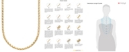 Italian Gold 14k Gold Diamond-Cut Popcorn Necklace (1-5/8mm)