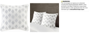 INK+IVY Nadia Cotton Embroidered Ikat Dot European Sham