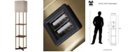 Adesso Harrison Shelf  Floor Lamp with USB Port