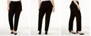 Alfani Plus Size Tummy-Control Ponte Slim-Leg Pants, Created for Macy's