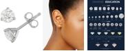 Macy's Diamond Three-Prong Stud Earrings (3/4 ct. t.w.) in 14k White Gold