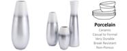 Zuo Stratos Medium Vase Silver & White