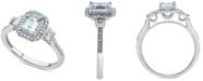 Macy's Aquamarine (1 ct. t.w.) & Diamond (1/3 ct. t.w.) Ring in 14k White Gold