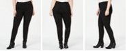 Style & Co Plus Size Tonal-Print Seam-Front Leggings, Created for Macy's