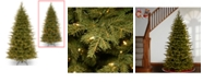 """National Tree Company National Tree 7 .5' """"Feel Real"""" Nordic Spruce Slim Hinged Tree with 600 Dual LED Lights"""