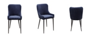 Moe's Home Collection Etta Dining Chair Dark Blue