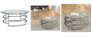 Furniture of America Intra Glass Top Coffee Table