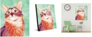 "Creative Gallery Painted Somali Cat On Green 16"" X 20"" Acrylic Wall Art Print"