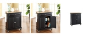 Crosley Natural Wood Top Portable Kitchen Cart Island