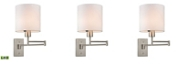 ELK Lighting Carson Collection 1 light swingarm WALL SCONCE in Brushed Nickel