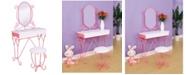 Furniture of America Heiress Kids Vanity Set with Stool