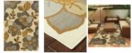 """Oriental Weavers Bali 9448M Ivory/Gray 3'7"""" x 5'6"""" Indoor/Outdoor Area Rug"""