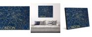 "Horizon Worldwide City of London Map in Midnight Blue 24"" x 36"" Metal Wall Art Print"
