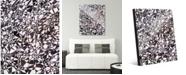"Creative Gallery Cluster Slate Abstract 24"" x 36"" Acrylic Wall Art Print"