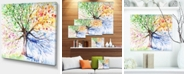 "Design Art Designart Four Seasons Tree Floral Art Canvas Print - 20"" X 12"""