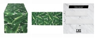 """Design Imports Banana Leaf Outdoor Table Runner 14"""" X 108"""""""