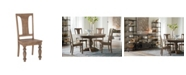 World Interiors Chatham Downs Weathered Teak Dining Chairs, Set of 2