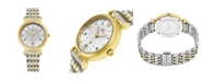 Stuhrling Alexander Watch AD202B-02, Ladies Quartz Small-Second Date Watch with Yellow Gold Tone Stainless Steel Case with Stainless Steel and Yellow Gold Tone Stainless Steel Bracelet