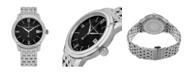 Stuhrling Alexander Watch A111B-03, Stainless Steel Case on Stainless Steel Bracelet
