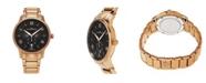 Stuhrling Alexander Watch A102B-05, Stainless Steel Rose Gold Tone Case on Stainless Steel Rose Gold Tone Bracelet